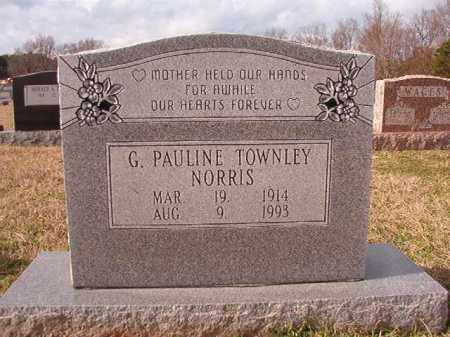 TOWNLEY NORRIS, G PAULINE - Dallas County, Arkansas | G PAULINE TOWNLEY NORRIS - Arkansas Gravestone Photos