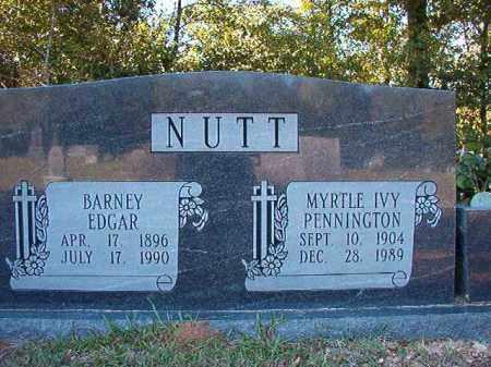 NUTT, BARNEY EDGAR - Dallas County, Arkansas | BARNEY EDGAR NUTT - Arkansas Gravestone Photos