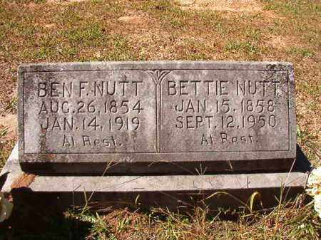 NUTT, BEN F - Dallas County, Arkansas | BEN F NUTT - Arkansas Gravestone Photos