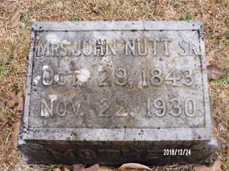 NUTT, MRS. JOHN - Dallas County, Arkansas | MRS. JOHN NUTT - Arkansas Gravestone Photos