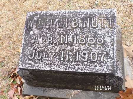NUTT, WILLIAM B - Dallas County, Arkansas | WILLIAM B NUTT - Arkansas Gravestone Photos