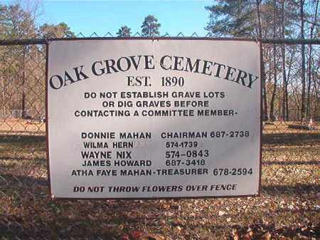 *OAK GROVE, CEMETERY - Dallas County, Arkansas | CEMETERY *OAK GROVE - Arkansas Gravestone Photos