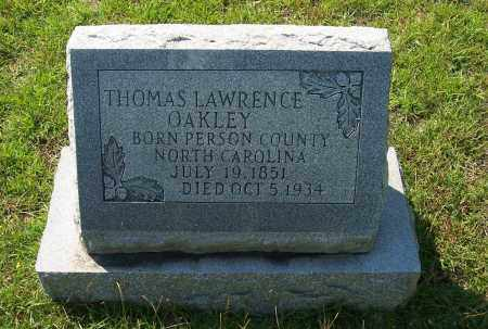 OAKLEY, THOMAS LAWRENCE - Dallas County, Arkansas | THOMAS LAWRENCE OAKLEY - Arkansas Gravestone Photos