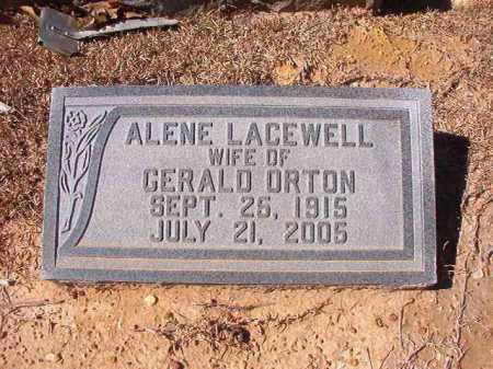LACEWELL ORTON, ALENE - Dallas County, Arkansas | ALENE LACEWELL ORTON - Arkansas Gravestone Photos
