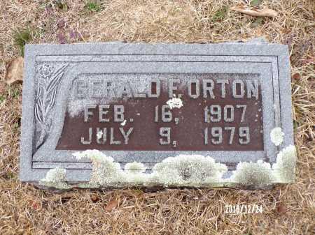 ORTON, GERALD F - Dallas County, Arkansas | GERALD F ORTON - Arkansas Gravestone Photos