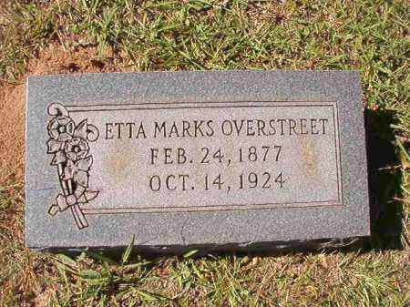 MARKS OVERSTREET, ETTA - Dallas County, Arkansas | ETTA MARKS OVERSTREET - Arkansas Gravestone Photos