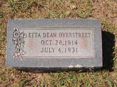 OVERSTREET, ETTA DEAN - Dallas County, Arkansas | ETTA DEAN OVERSTREET - Arkansas Gravestone Photos