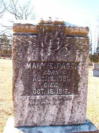 PAGE, MARY E - Dallas County, Arkansas | MARY E PAGE - Arkansas Gravestone Photos