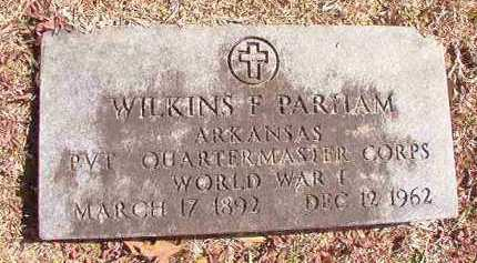 PARHAM (VETERAN WWI), WILKINS F - Dallas County, Arkansas | WILKINS F PARHAM (VETERAN WWI) - Arkansas Gravestone Photos