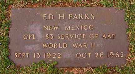 PARKS (VETERAN WWII), ED H - Dallas County, Arkansas | ED H PARKS (VETERAN WWII) - Arkansas Gravestone Photos