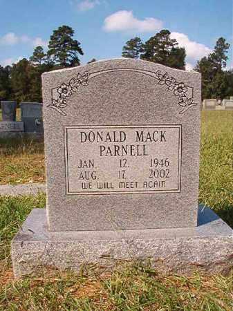 PARNELL, DONALD MACK - Dallas County, Arkansas | DONALD MACK PARNELL - Arkansas Gravestone Photos
