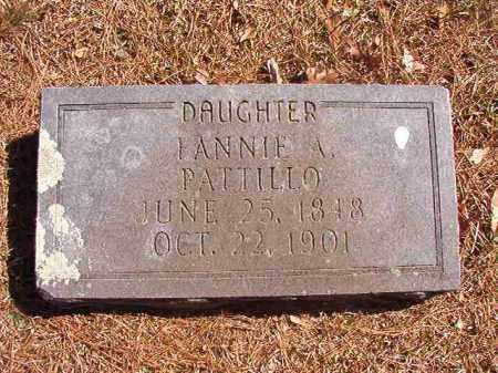 PATTILLO, FANNIE A - Dallas County, Arkansas | FANNIE A PATTILLO - Arkansas Gravestone Photos
