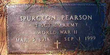 PEARSON (VETERAN WWII), SPURGEON - Dallas County, Arkansas | SPURGEON PEARSON (VETERAN WWII) - Arkansas Gravestone Photos