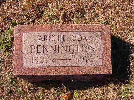 PENNINGTON, ARCHIE ODA - Dallas County, Arkansas | ARCHIE ODA PENNINGTON - Arkansas Gravestone Photos