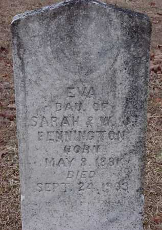 PENNINGTON, EVA - Dallas County, Arkansas | EVA PENNINGTON - Arkansas Gravestone Photos