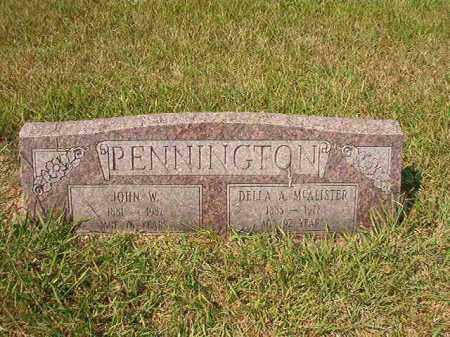 MCALISTER PENNINGTON, DELLA A - Dallas County, Arkansas | DELLA A MCALISTER PENNINGTON - Arkansas Gravestone Photos