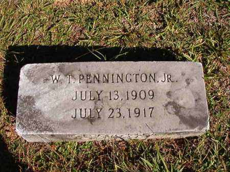 PENNINGTON, JR, W T - Dallas County, Arkansas | W T PENNINGTON, JR - Arkansas Gravestone Photos