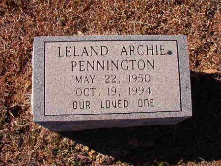PENNINGTON, LELAND ARCHIE - Dallas County, Arkansas | LELAND ARCHIE PENNINGTON - Arkansas Gravestone Photos