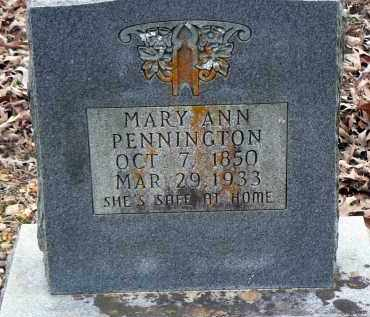 PENNINGTON, MARY ANN - Dallas County, Arkansas | MARY ANN PENNINGTON - Arkansas Gravestone Photos