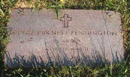 PENNINGTON (VETERAN WWII), CLYDE EARNEST - Dallas County, Arkansas | CLYDE EARNEST PENNINGTON (VETERAN WWII) - Arkansas Gravestone Photos