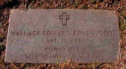 PENNINGTON (VETERAN WWII), WALLACE EDWARD - Dallas County, Arkansas | WALLACE EDWARD PENNINGTON (VETERAN WWII) - Arkansas Gravestone Photos