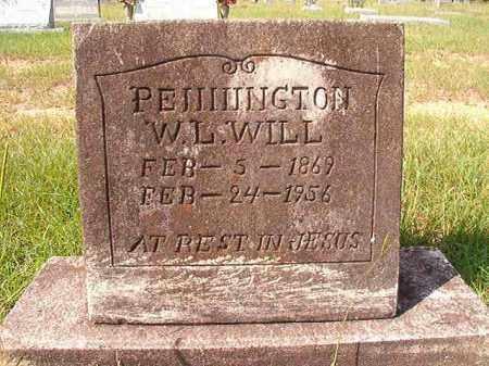 "PENNINGTON, W L ""WILL"" - Dallas County, Arkansas | W L ""WILL"" PENNINGTON - Arkansas Gravestone Photos"