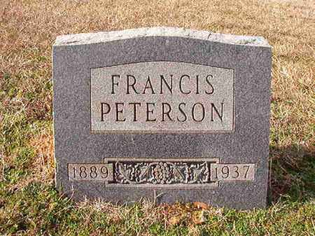 PETERSON, FRANCIS - Dallas County, Arkansas | FRANCIS PETERSON - Arkansas Gravestone Photos