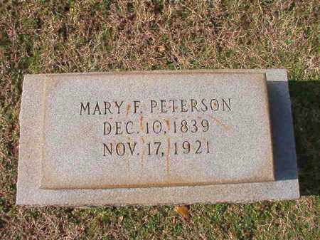 PETERSON, MARY F - Dallas County, Arkansas | MARY F PETERSON - Arkansas Gravestone Photos