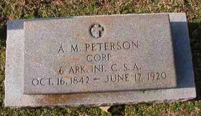 PETERSON (VETERAN CSA), A M - Dallas County, Arkansas | A M PETERSON (VETERAN CSA) - Arkansas Gravestone Photos