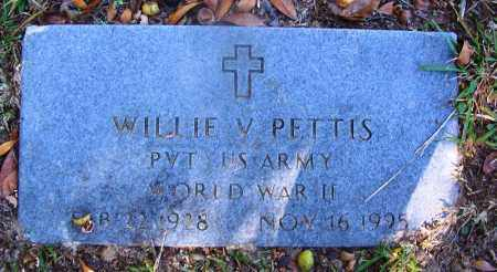 PETTIS (VETERAN WWII), WILLIE V - Dallas County, Arkansas | WILLIE V PETTIS (VETERAN WWII) - Arkansas Gravestone Photos