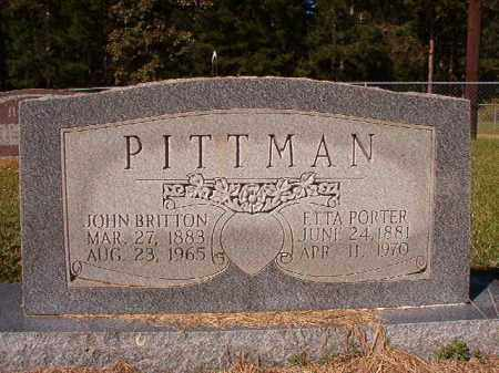 PORTER PITTMAN, ETTA - Dallas County, Arkansas | ETTA PORTER PITTMAN - Arkansas Gravestone Photos