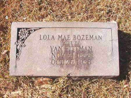 BOZEMAN PITTMAN, LOLA MAE - Dallas County, Arkansas | LOLA MAE BOZEMAN PITTMAN - Arkansas Gravestone Photos