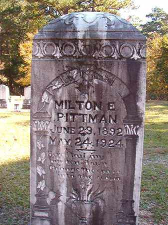 PITTMAN, MILTON E - Dallas County, Arkansas | MILTON E PITTMAN - Arkansas Gravestone Photos