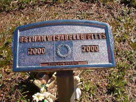 PITTS, BETHANY ISABELLE - Dallas County, Arkansas | BETHANY ISABELLE PITTS - Arkansas Gravestone Photos