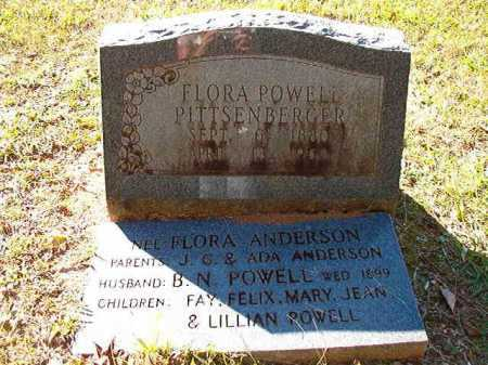 ANDERSON POWELL PITTSENBERGER, FLORA - Dallas County, Arkansas | FLORA ANDERSON POWELL PITTSENBERGER - Arkansas Gravestone Photos