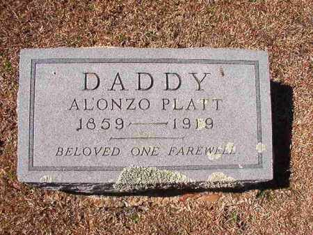 PLATT, ALONZO - Dallas County, Arkansas | ALONZO PLATT - Arkansas Gravestone Photos