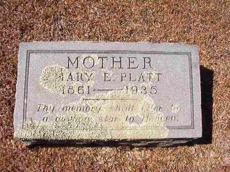 PLATT, MARY E - Dallas County, Arkansas | MARY E PLATT - Arkansas Gravestone Photos