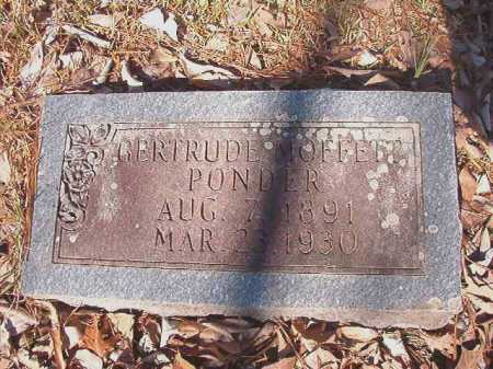 PONDER, GERTRUDE - Dallas County, Arkansas | GERTRUDE PONDER - Arkansas Gravestone Photos