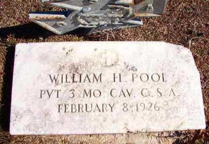 POOL (VETERAN CSA), WILLIAM H (BIO) - Dallas County, Arkansas | WILLIAM H (BIO) POOL (VETERAN CSA) - Arkansas Gravestone Photos