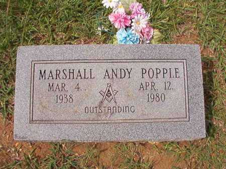 POPPLE, MARSHALL ANDY - Dallas County, Arkansas | MARSHALL ANDY POPPLE - Arkansas Gravestone Photos