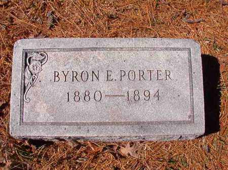 PORTER, BYRON E - Dallas County, Arkansas | BYRON E PORTER - Arkansas Gravestone Photos