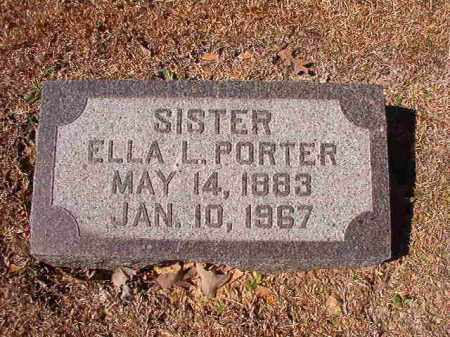 PORTER, ELLA L - Dallas County, Arkansas | ELLA L PORTER - Arkansas Gravestone Photos