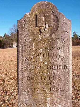 FITE PORTERFIELD, ASENITH - Dallas County, Arkansas | ASENITH FITE PORTERFIELD - Arkansas Gravestone Photos