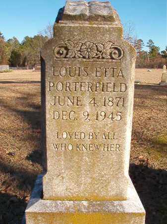 PORTERFIELD, LOUIS ETTA - Dallas County, Arkansas | LOUIS ETTA PORTERFIELD - Arkansas Gravestone Photos