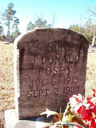 POSEY, J DONALD - Dallas County, Arkansas | J DONALD POSEY - Arkansas Gravestone Photos