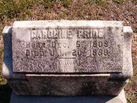 PRIDE, CAROLINE - Dallas County, Arkansas | CAROLINE PRIDE - Arkansas Gravestone Photos