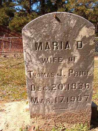 PRIDE, MARIA D - Dallas County, Arkansas | MARIA D PRIDE - Arkansas Gravestone Photos