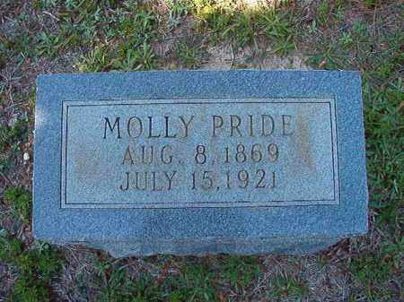 PRIDE, MOLLY - Dallas County, Arkansas | MOLLY PRIDE - Arkansas Gravestone Photos