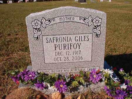 PURIFOY, SAFRONIA - Dallas County, Arkansas | SAFRONIA PURIFOY - Arkansas Gravestone Photos
