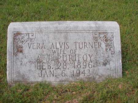 TURNER PURIFOY, VERA ALVIS - Dallas County, Arkansas | VERA ALVIS TURNER PURIFOY - Arkansas Gravestone Photos